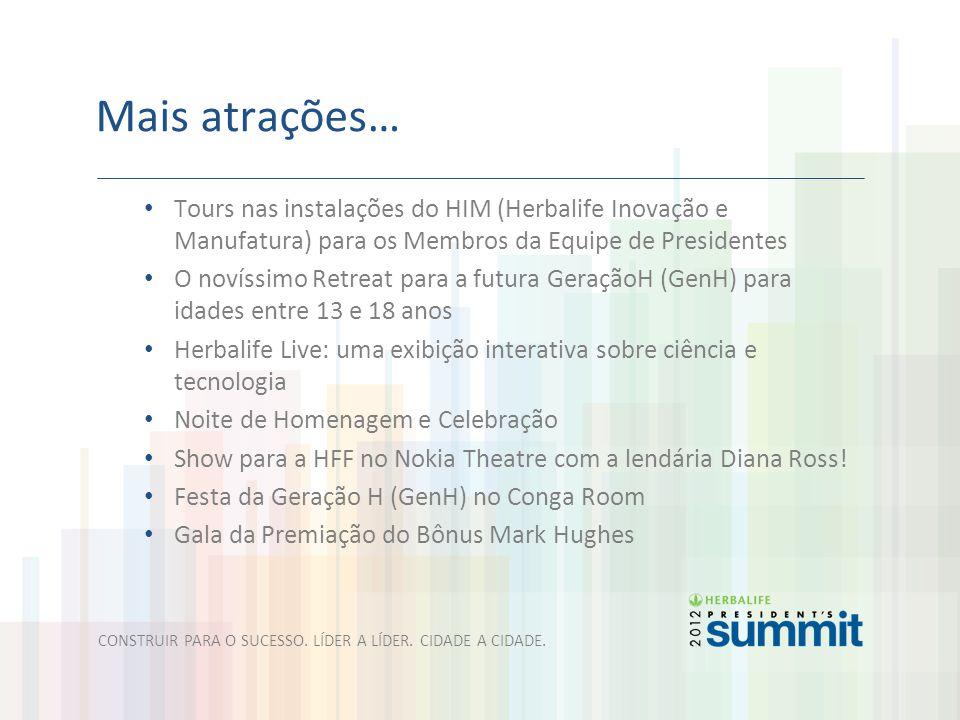 Mais atrações… Tours nas instalações do HIM (Herbalife Inovação e Manufatura) para os Membros da Equipe de Presidentes.