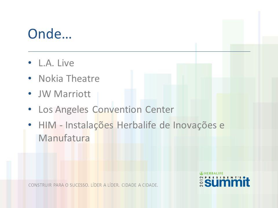 Onde… L.A. Live Nokia Theatre JW Marriott