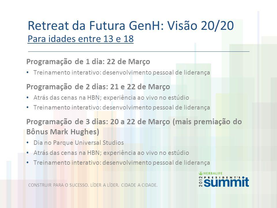 Retreat da Futura GenH: Visão 20/20 Para idades entre 13 e 18