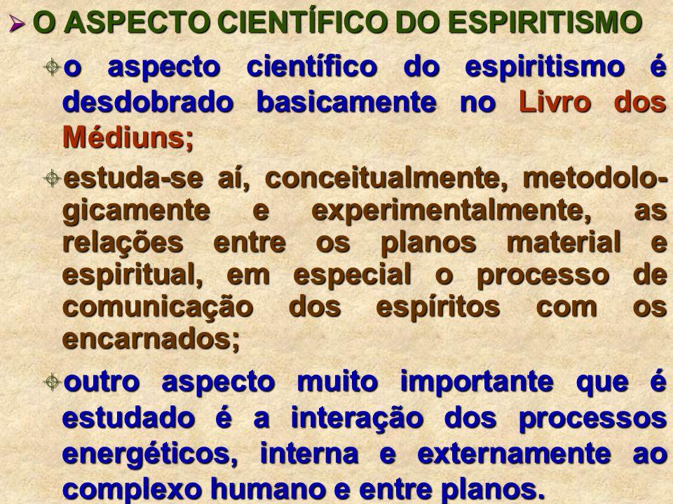 O ASPECTO CIENTÍFICO DO ESPIRITISMO