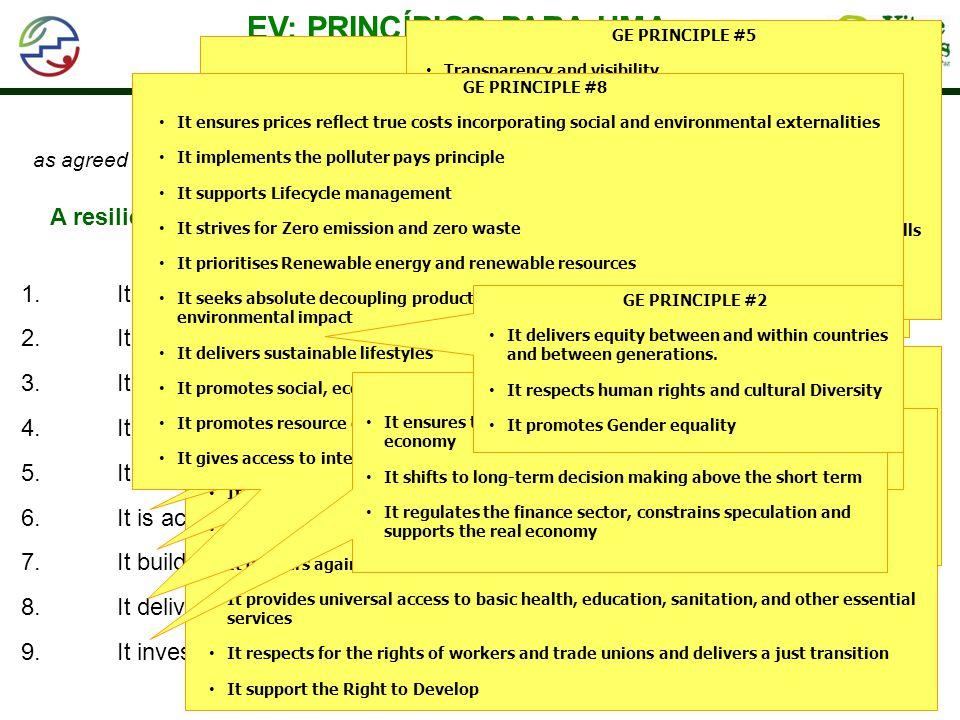 EV: PRINCÍPIOS PARA UMA TRANSIÇÃO EFICAZ E SEGURA