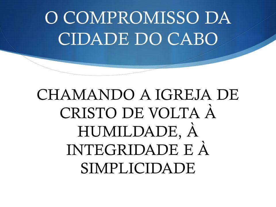 O COMPROMISSO DA CIDADE DO CABO
