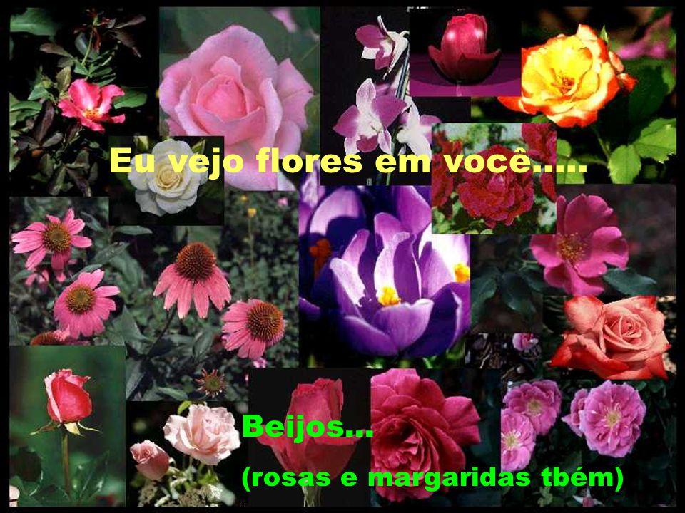 Eu vejo flores em você..... Beijos... (rosas e margaridas tbém)