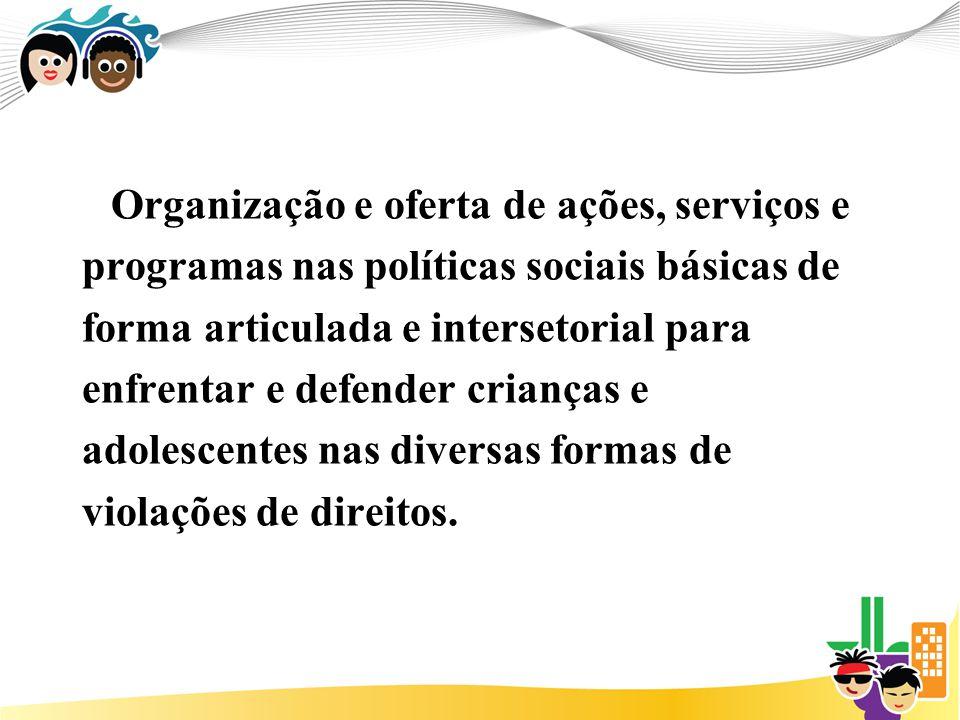 Organização e oferta de ações, serviços e