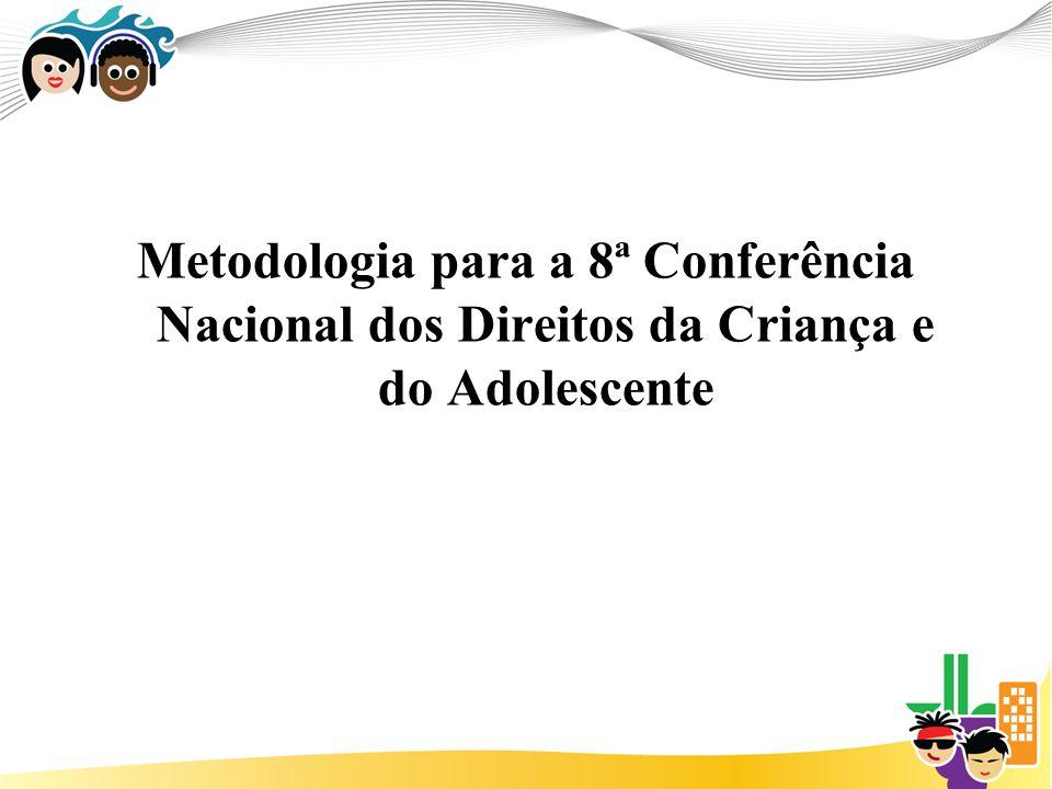 Metodologia para a 8ª Conferência Nacional dos Direitos da Criança e do Adolescente