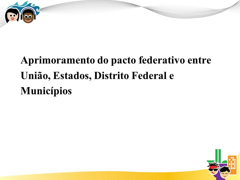 Aprimoramento do pacto federativo entre