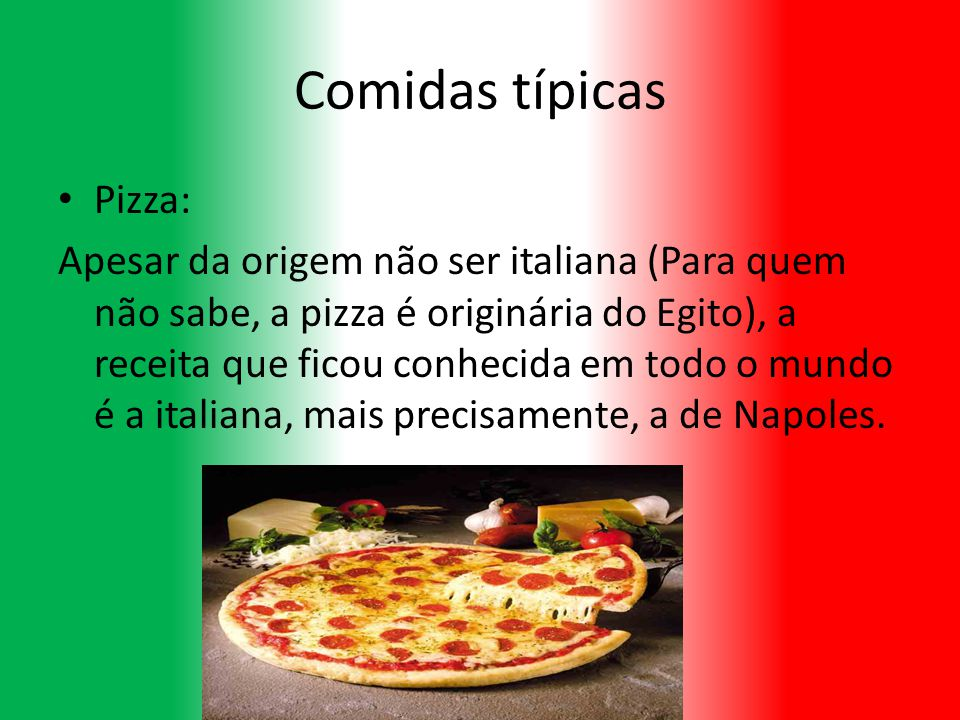 Comidas típicas Pizza: