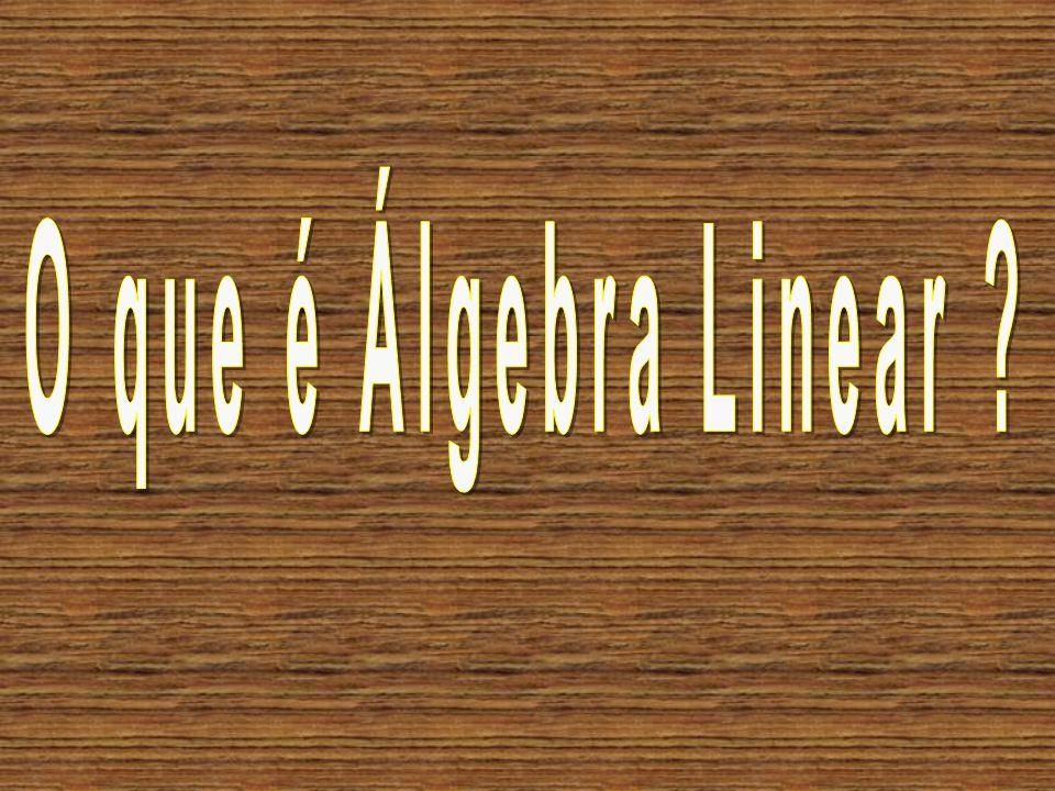 O que é Álgebra Linear