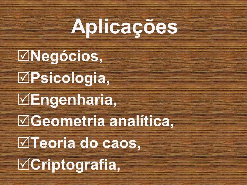 Aplicações Negócios, Psicologia, Engenharia, Geometria analítica,