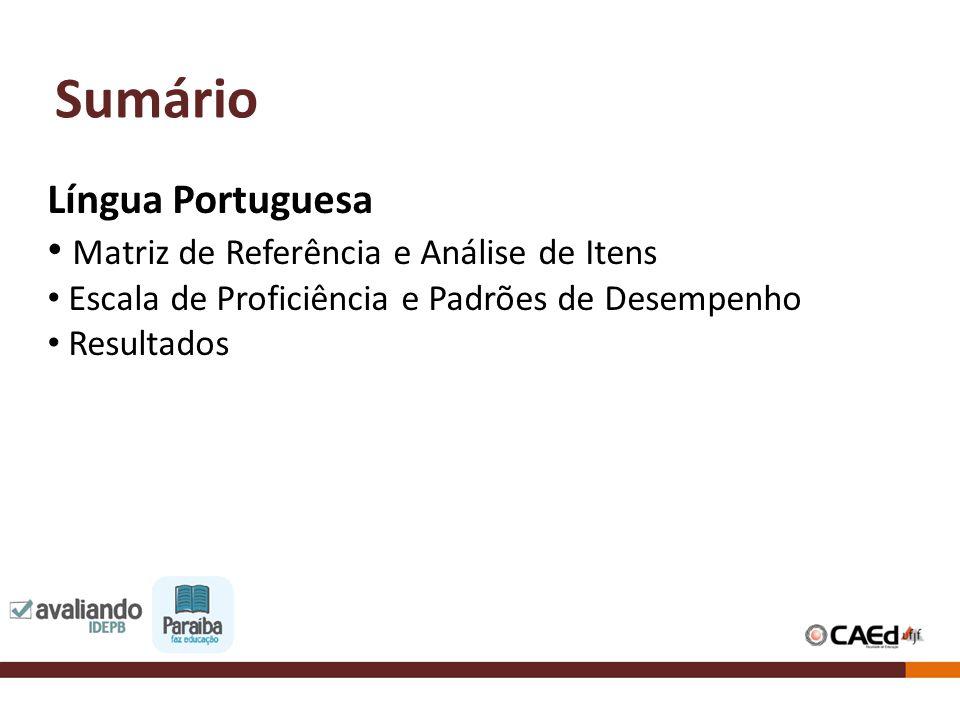 Sumário Língua Portuguesa Matriz de Referência e Análise de Itens