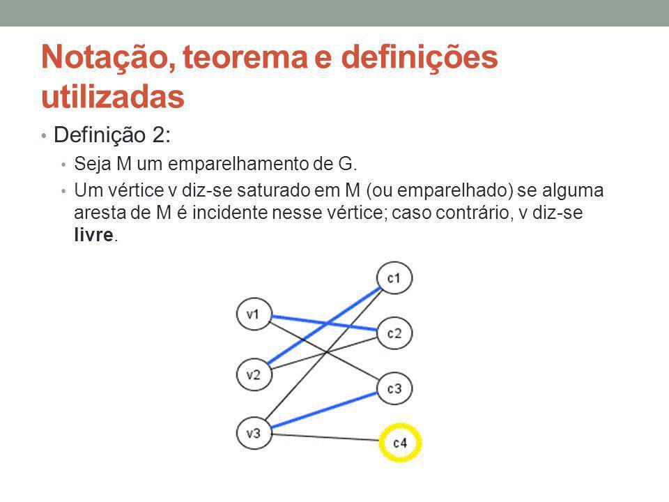 Notação, teorema e definições utilizadas