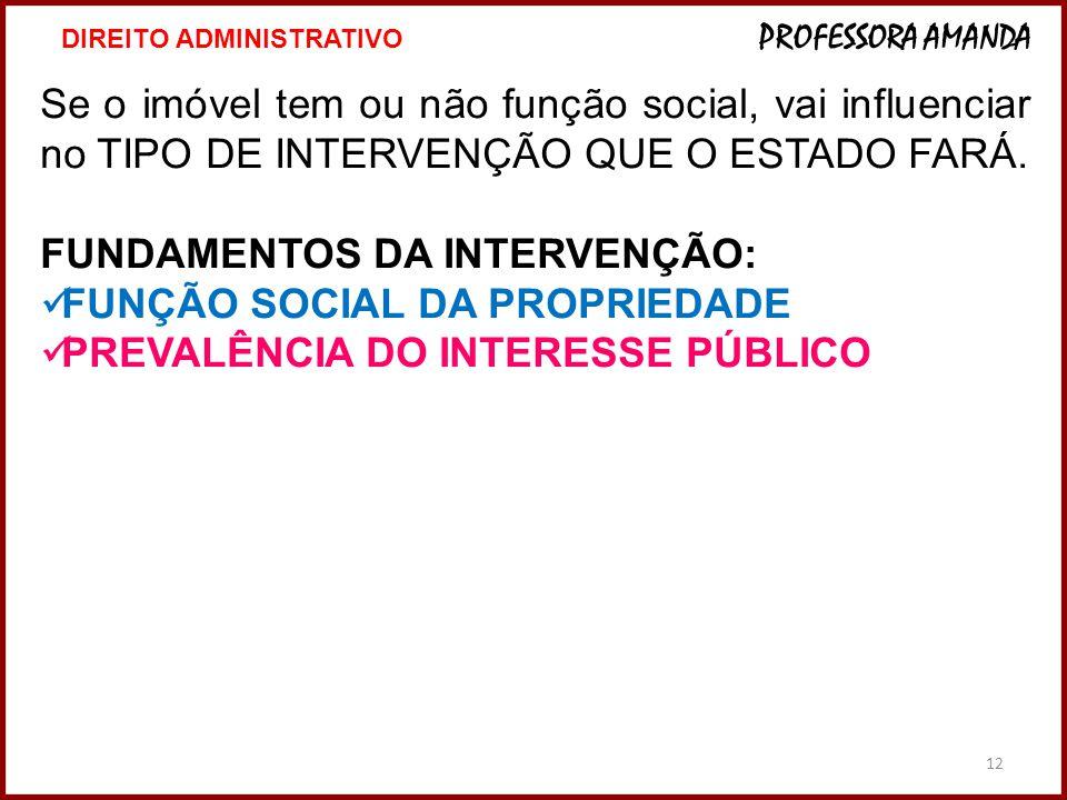 FUNDAMENTOS DA INTERVENÇÃO: FUNÇÃO SOCIAL DA PROPRIEDADE