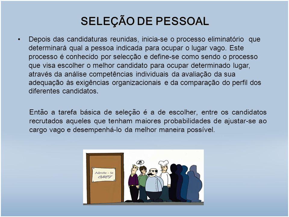 SELEÇÃO DE PESSOAL