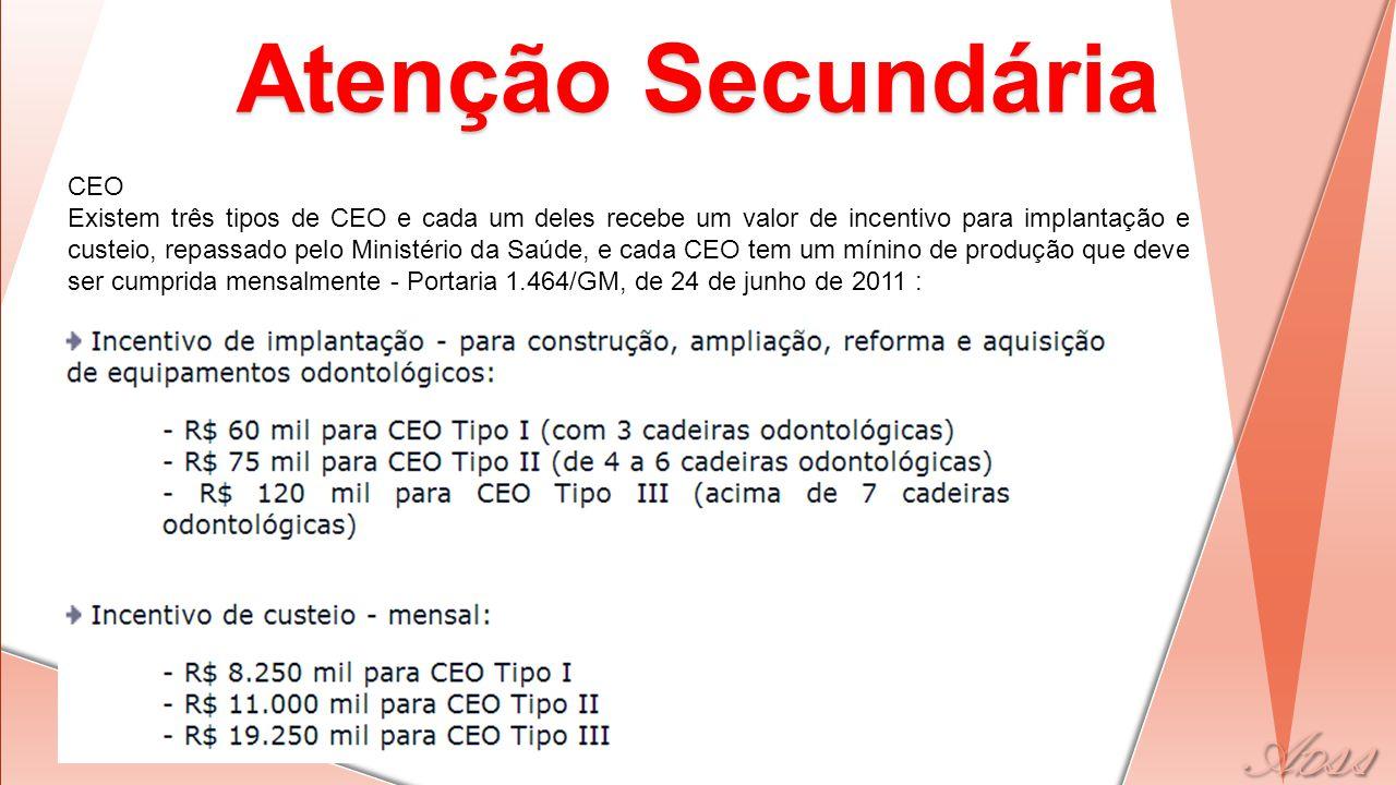 Atenção Secundária CEO