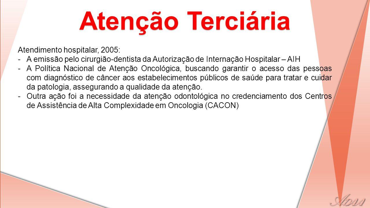 Atenção Terciária Atendimento hospitalar, 2005: