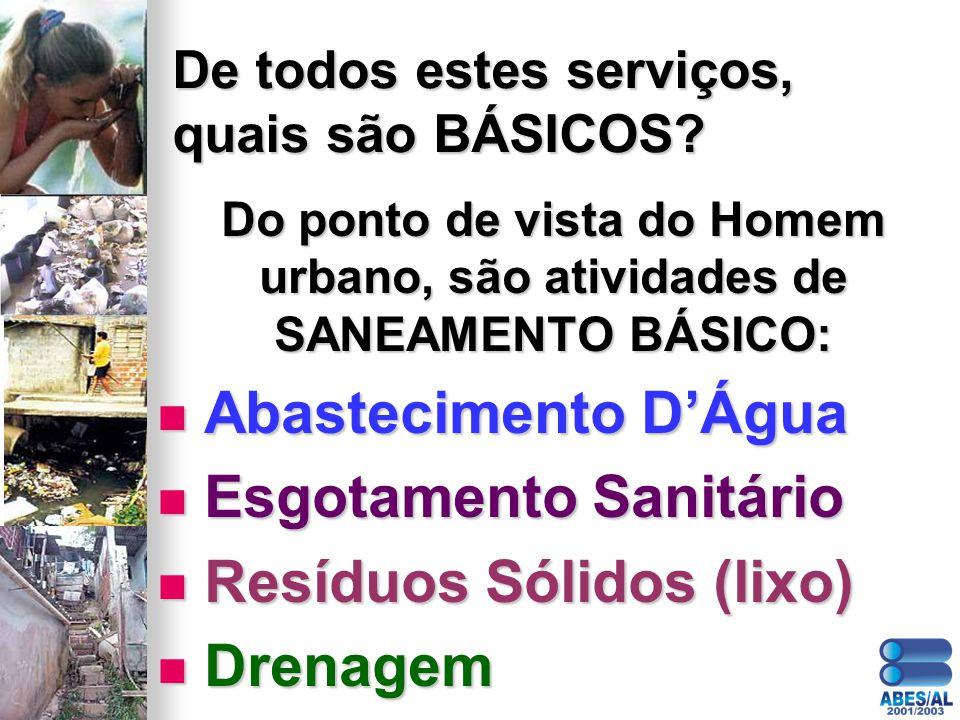 De todos estes serviços, quais são BÁSICOS