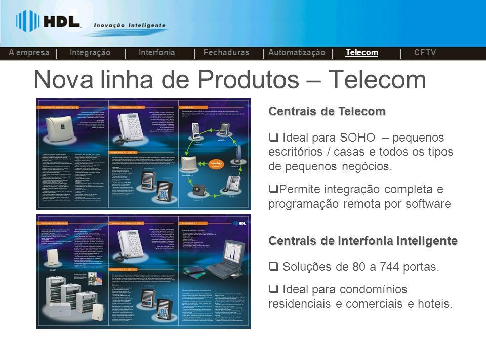 Nova linha de Produtos – Telecom