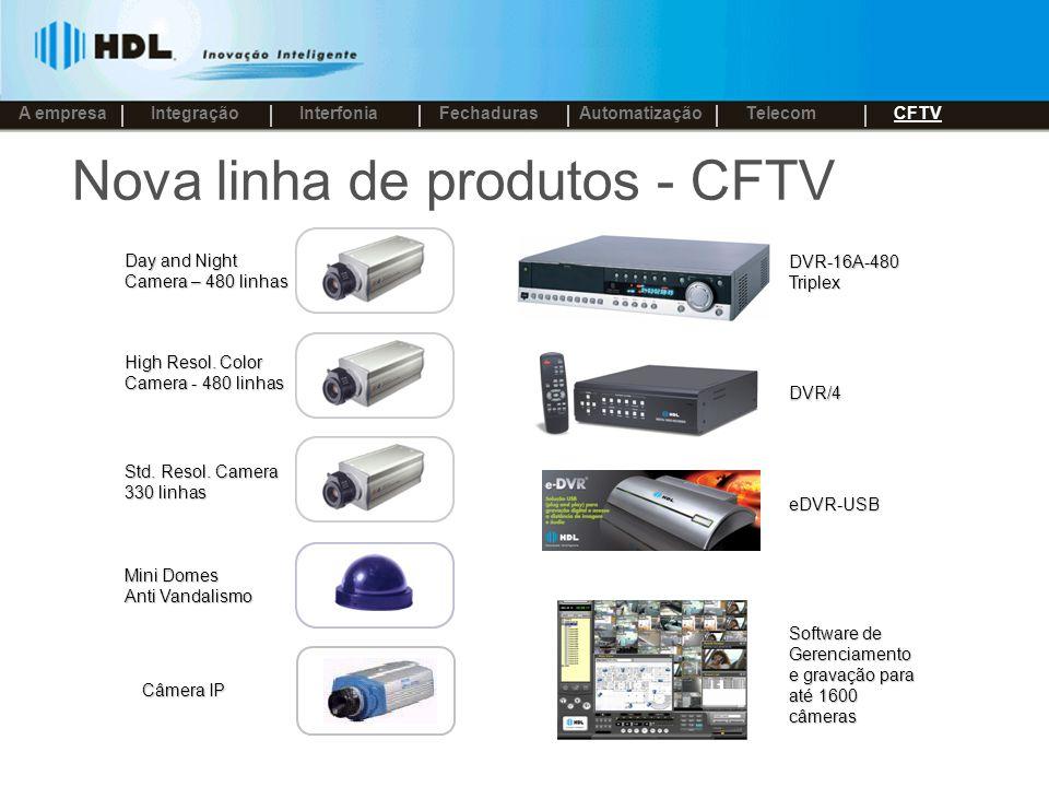 Nova linha de produtos - CFTV