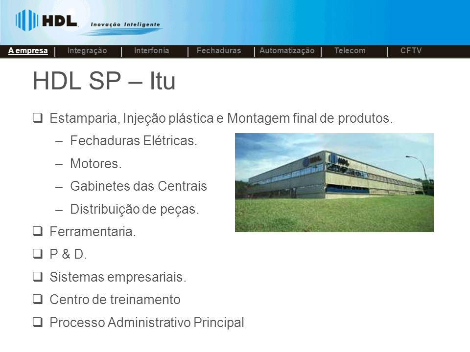 A empresa Integração. Interfonia. Fechaduras. Automatização. Telecom. CFTV. HDL SP – Itu.