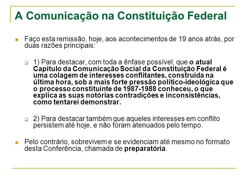 A Comunicação na Constituição Federal