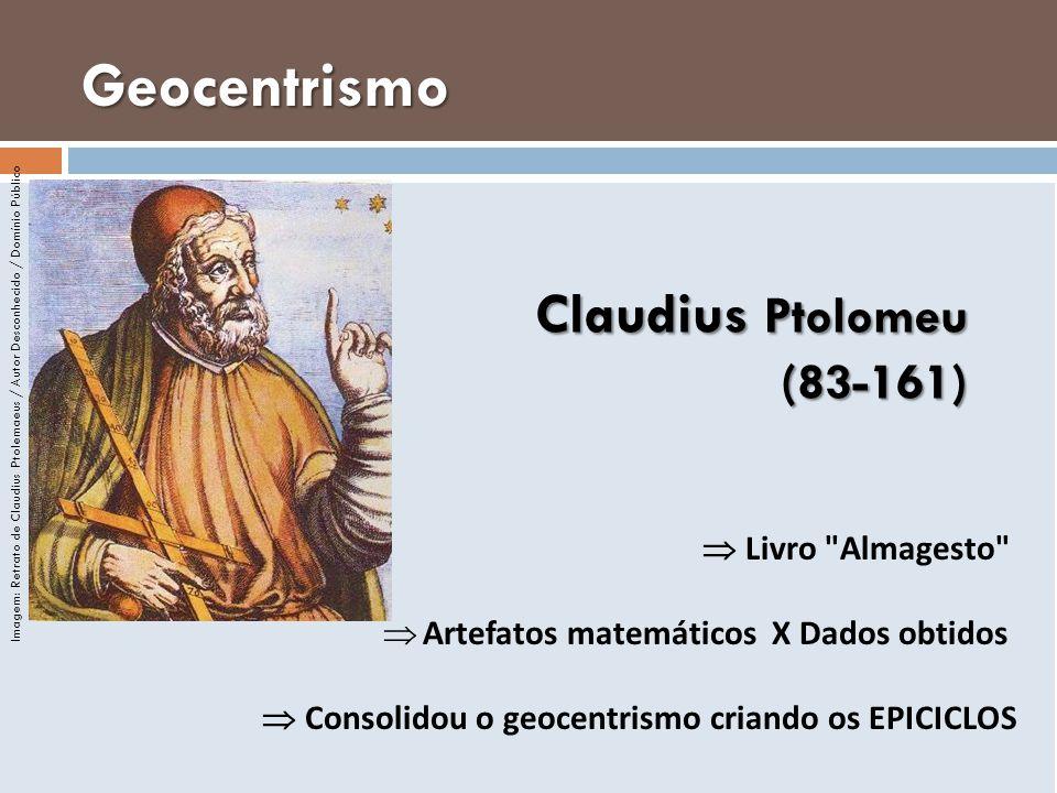 Geocentrismo Claudius Ptolomeu (83-161)  Livro Almagesto