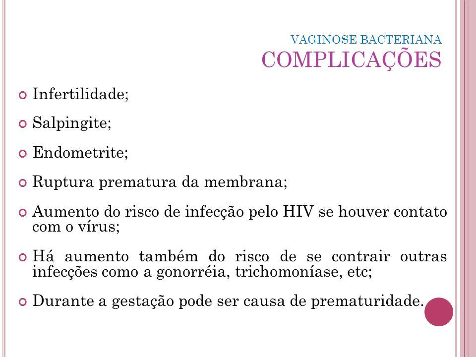 VAGINOSE BACTERIANA COMPLICAÇÕES