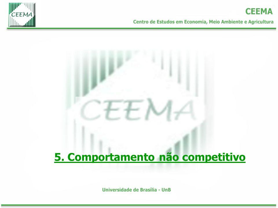 5. Comportamento não competitivo