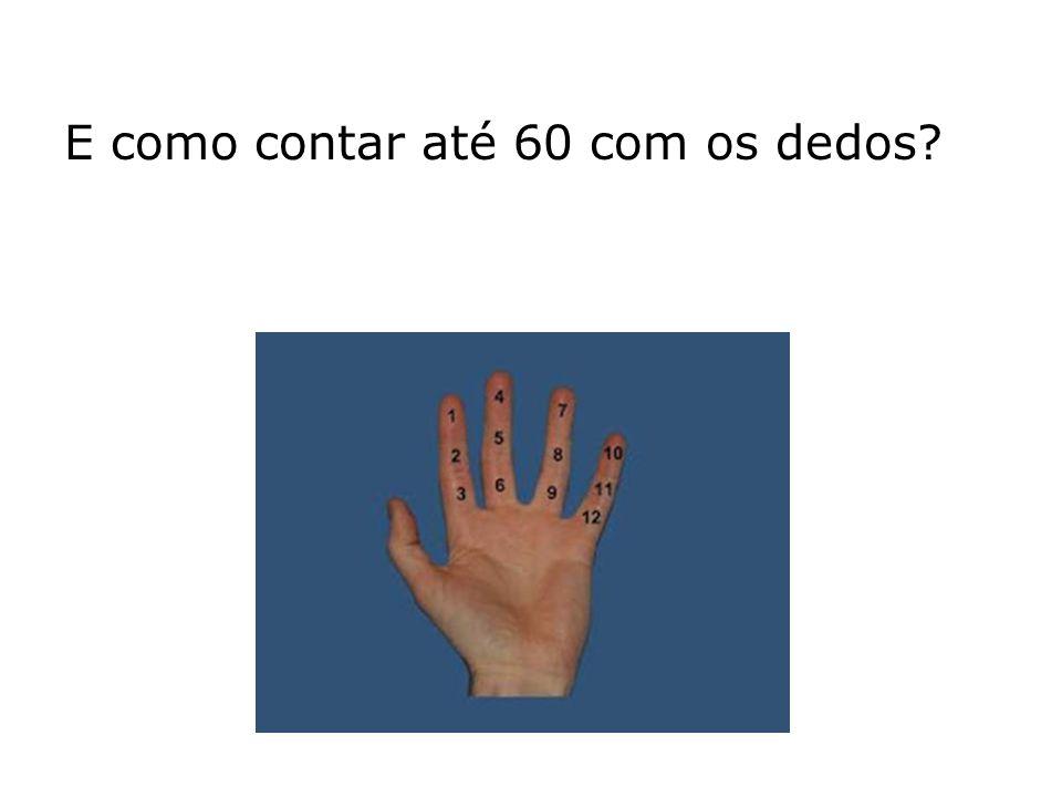 E como contar até 60 com os dedos