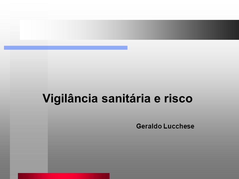 Vigilância sanitária e risco