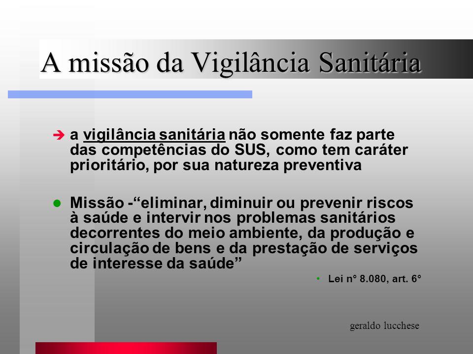 A missão da Vigilância Sanitária