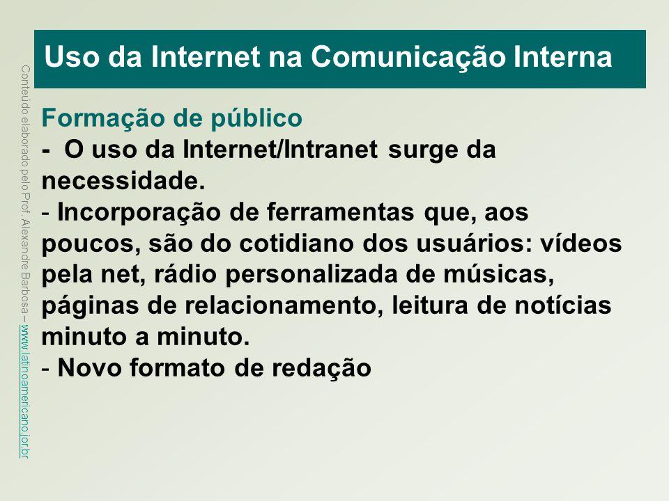 Uso da Internet na Comunicação Interna