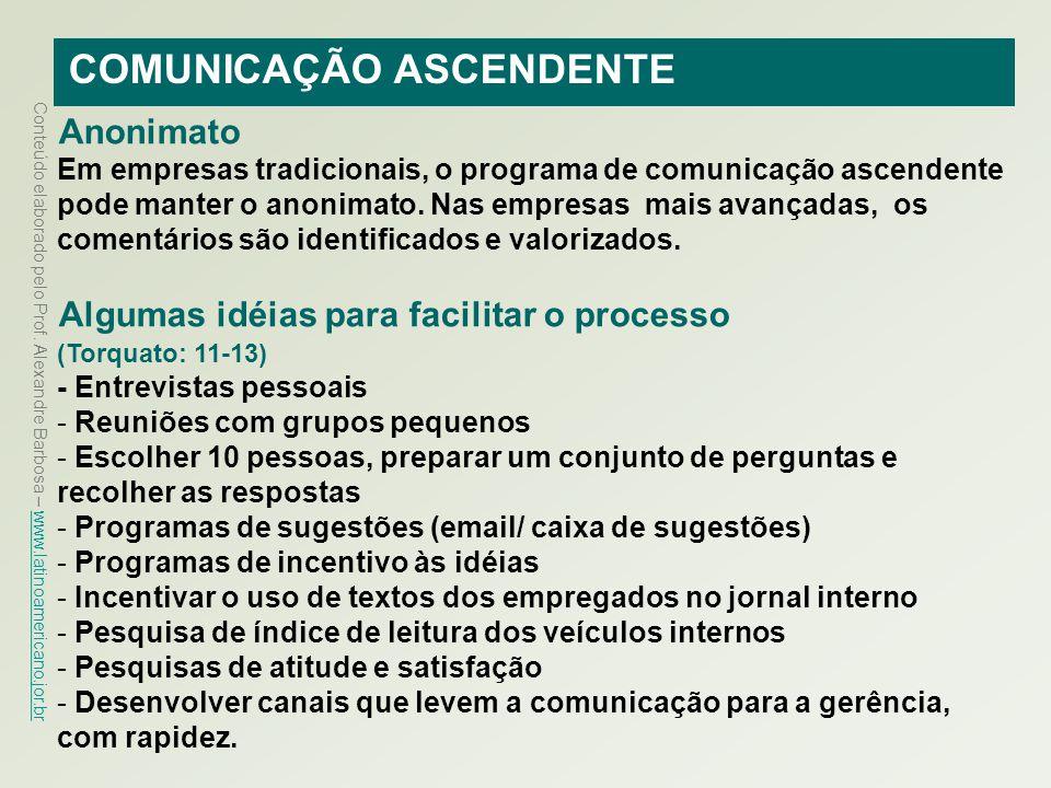 COMUNICAÇÃO ASCENDENTE