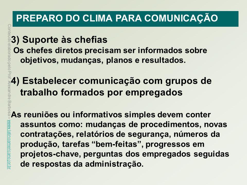 PREPARO DO CLIMA PARA COMUNICAÇÃO