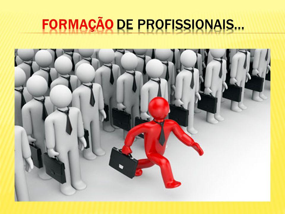 FORMAÇÃO DE PROFISSIONAIS...