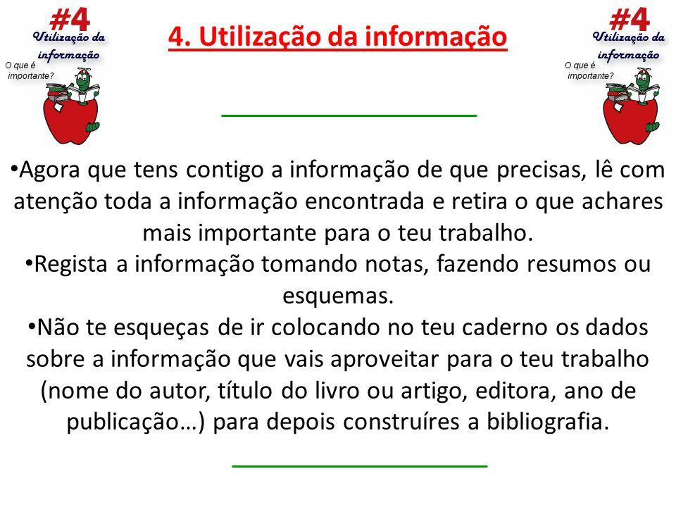 4. Utilização da informação