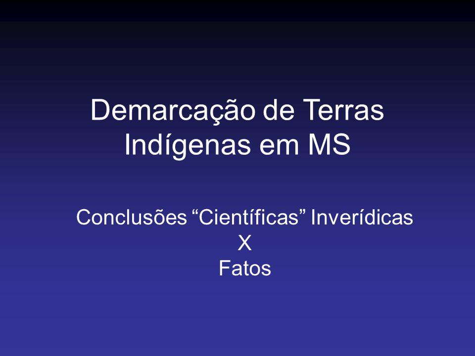 Conclusões Científicas Inverídicas X Fatos