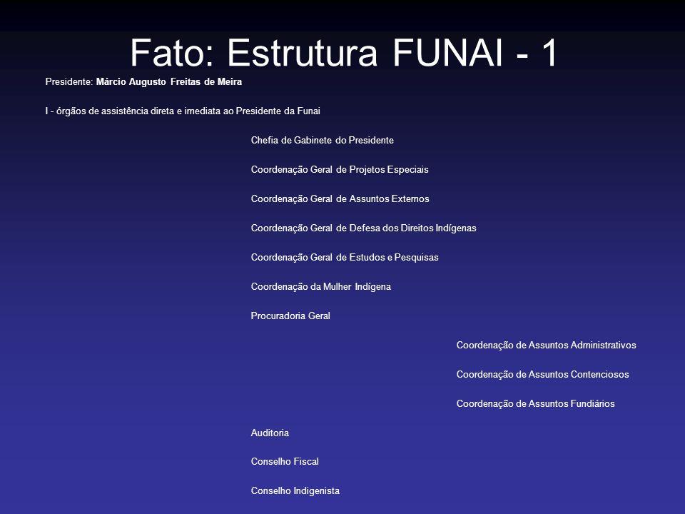 Fato: Estrutura FUNAI - 1