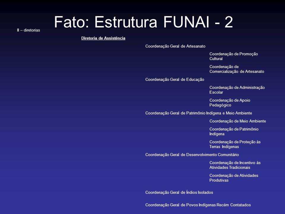 Fato: Estrutura FUNAI - 2