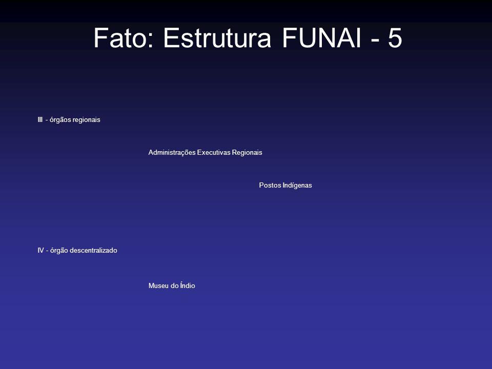Fato: Estrutura FUNAI - 5
