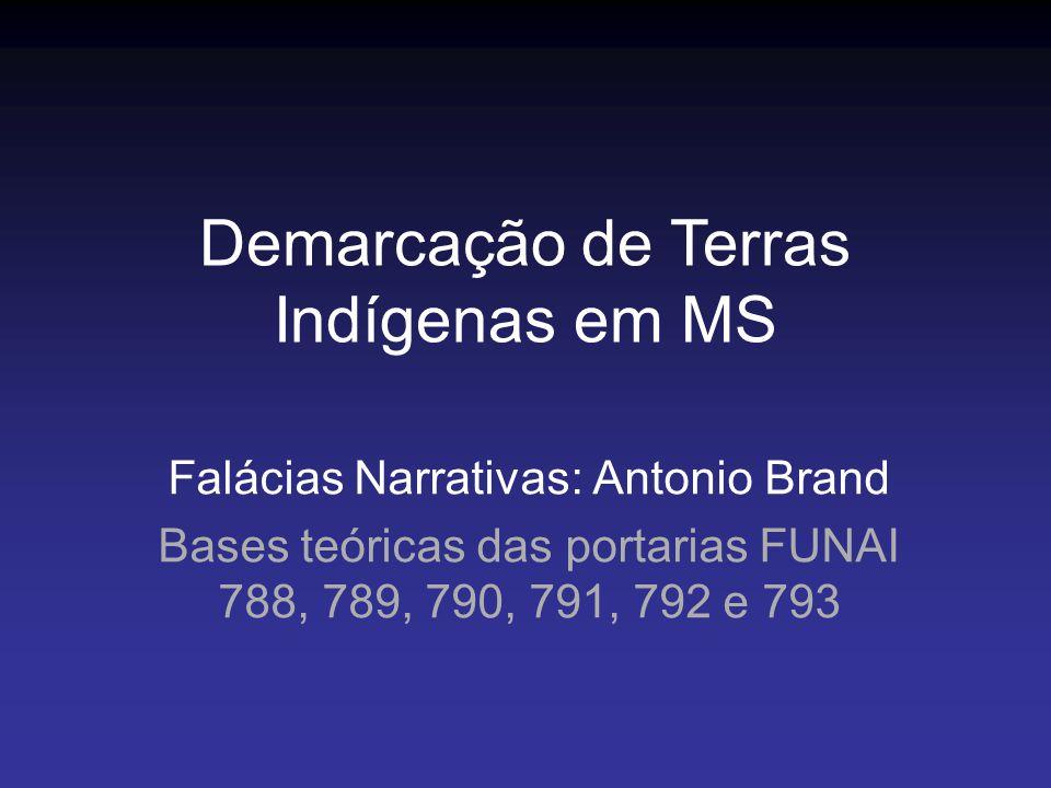 Demarcação de Terras Indígenas em MS