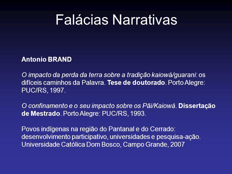 Falácias Narrativas Antonio BRAND