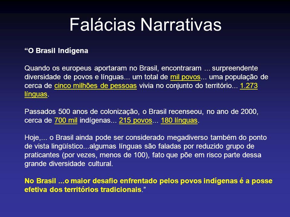 Falácias Narrativas O Brasil Indígena