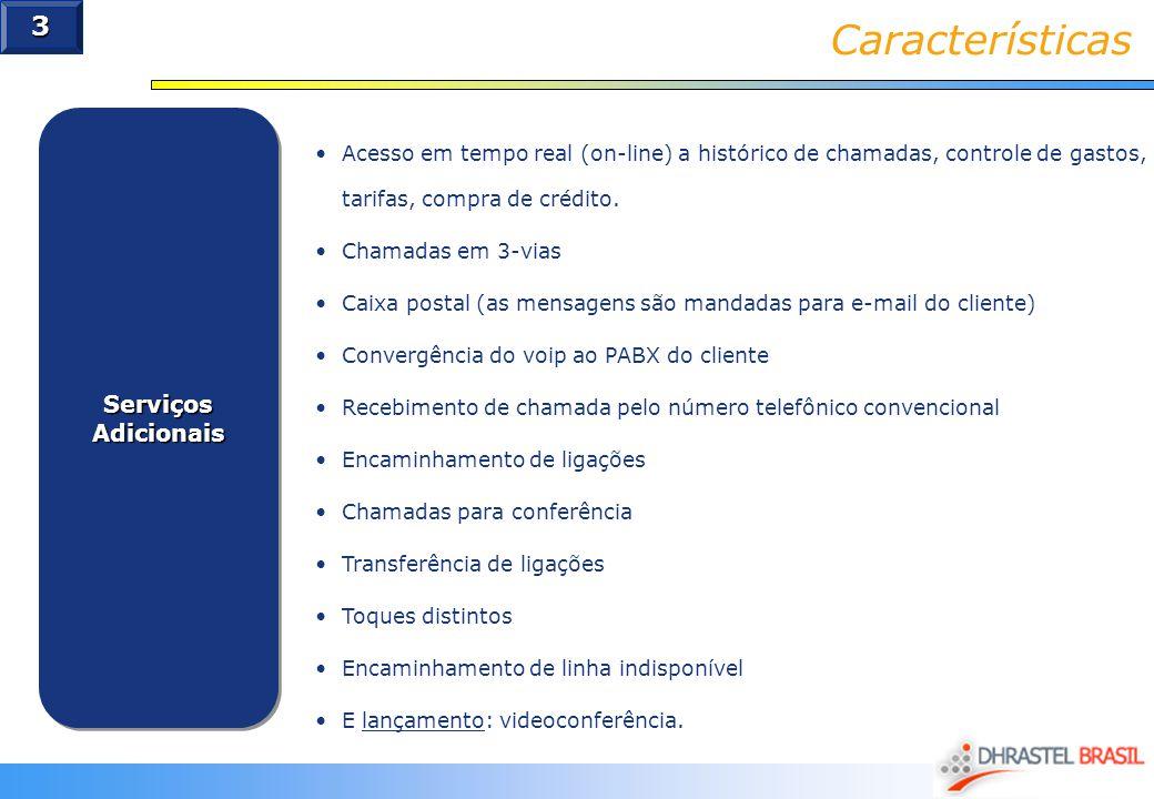Características 3 Serviços Adicionais