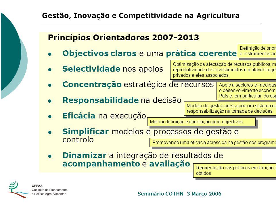 Princípios Orientadores 2007-2013