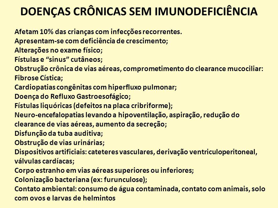 DOENÇAS CRÔNICAS SEM IMUNODEFICIÊNCIA
