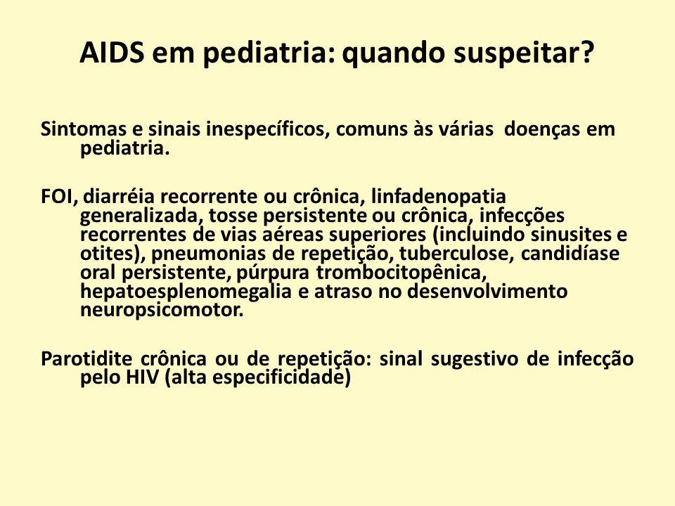 AIDS em pediatria: quando suspeitar