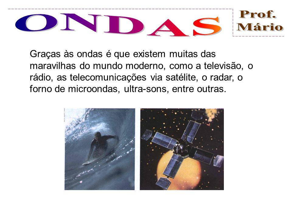 Graças às ondas é que existem muitas das maravilhas do mundo moderno, como a televisão, o rádio, as telecomunicações via satélite, o radar, o forno de microondas, ultra-sons, entre outras.