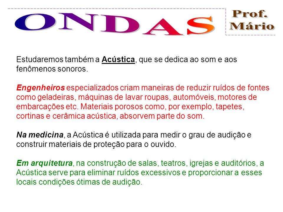Estudaremos também a Acústica, que se dedica ao som e aos fenômenos sonoros.