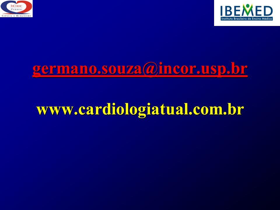 germano.souza@incor.usp.br www.cardiologiatual.com.br