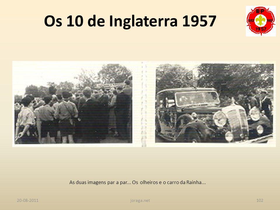 As duas imagens par a par... Os olheiros e o carro da Rainha...